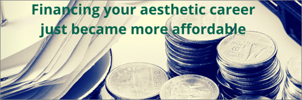 Cosmetic Courses: banner showing finance options