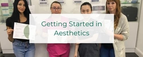 getting started in aesthetics